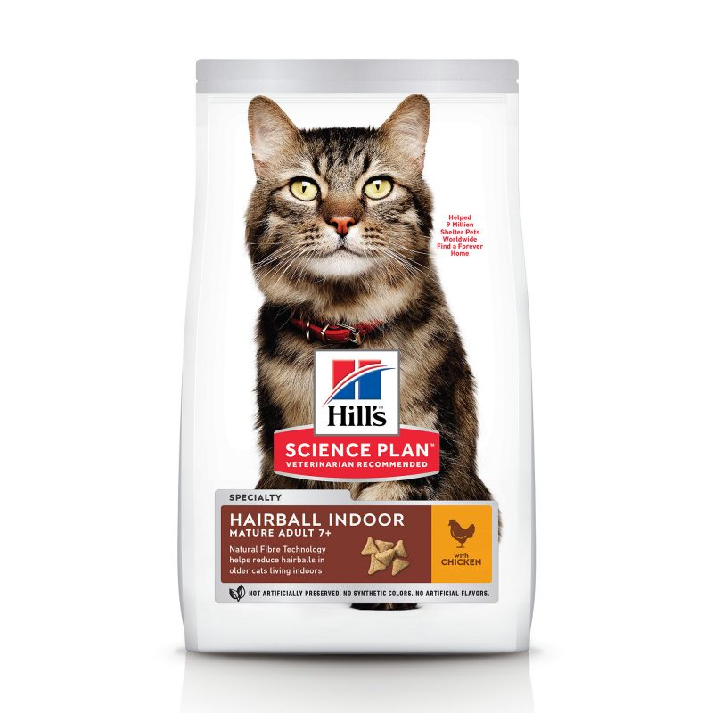 Hill's Science Plan Mature Adult Hairball & Indoor Kylling