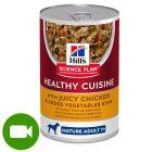 Hill's Science Plan Mature Adult 7+ Healthy Cuisine gulasz, kurczak i warzywa