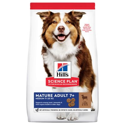 Hill's Science Plan Mature Adult 7+ Medium agneau, riz pour chien
