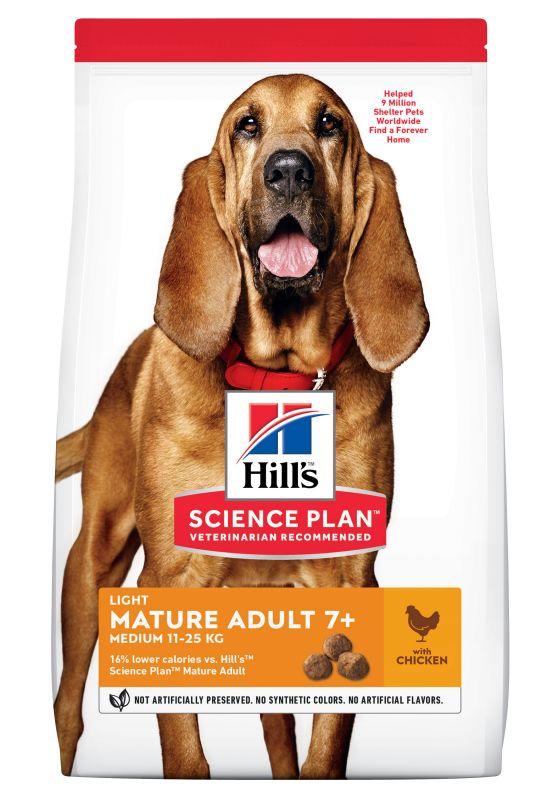 Hill's Science Plan Mature Adult 7+ Medium Light con Pollo
