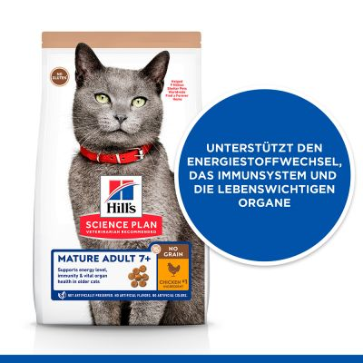 Hill's Science Plan Mature Adult 7+ No Grain poulet pour chat
