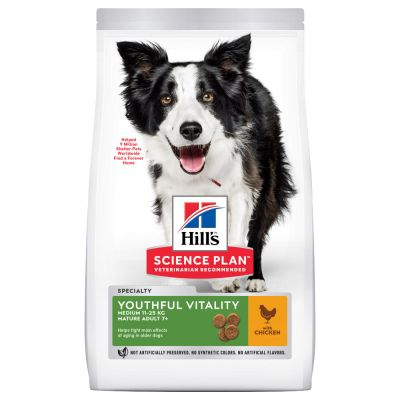 Hill's Science Plan Mature Adult Senior Vitality Medium mit Huhn