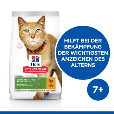 Hill's Science Plan Mature Adult Senior Vitality poulet, riz pour chat