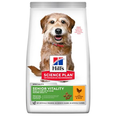 Hill's Science Plan Mature Adult 7+ Senior Vitality Small & Mini Kip Hondenvoer
