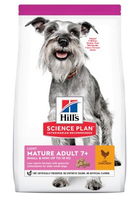 Hill's Science Plan Mature Adult 7+ Small & Mini Light con Pollo