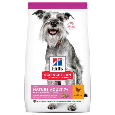Hill's Science Plan Mature Adult 7+ Small & Mini Light Kylling hundefoder