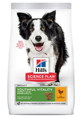 Hill's Science Plan Mature Adult 7+ Youthful Vitality Medium com frango