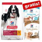 Hill's Science Plan mit Huhn Grossgebinde + 2 Hill's Hundesnacks gratis!