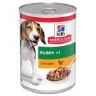 Hill's Science Plan Puppy <1 com frango latas para cães