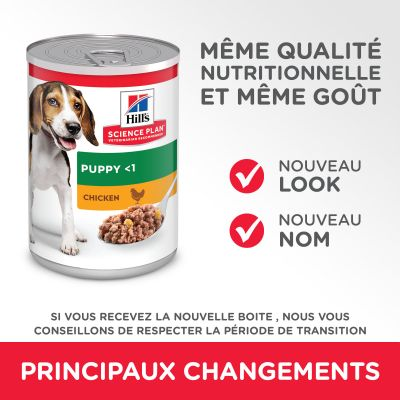 Hill's Science Plan Puppy <1 poulet 6 x 370 g pour chien