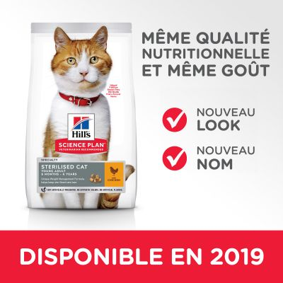 Hill's Science Plan Young Adult Sterilised poulet pour chat