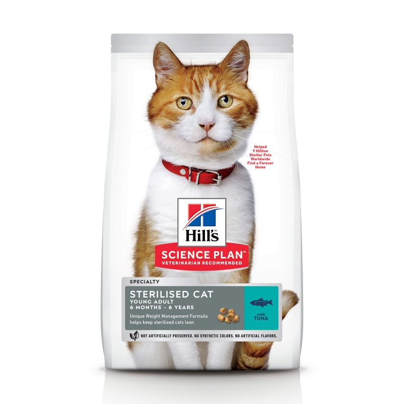 Hill's Science Plan Young Adult Sterilised thon pour chat
