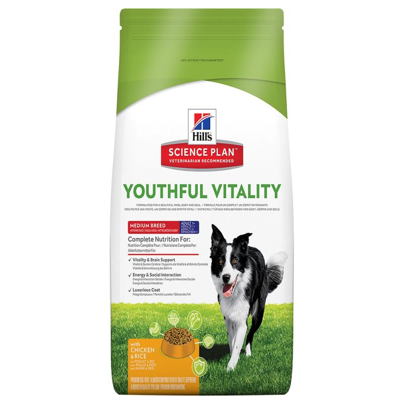 Hill's Science Plan 7+ Youthful Vitality Medium with Chicken & Rice