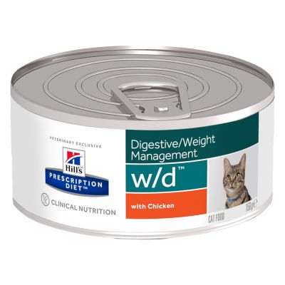 Hill's w/d Prescription Diet latas comida húmeda para gatos
