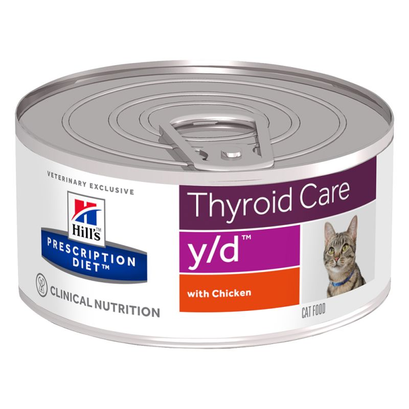 Hill's y/d Prescription Diet Thyroid Care latas para gatos