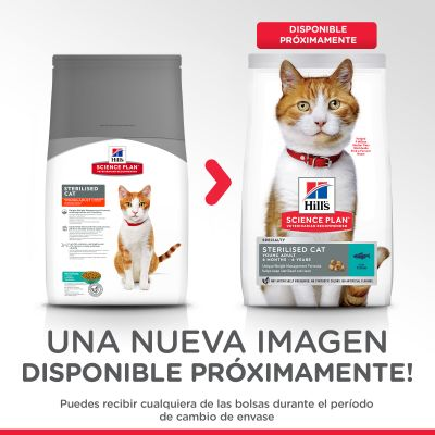 Hill's Young Adult Sterilised con atún pienso para gatos