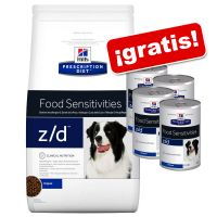 Hill's z/d Prescription Diet Food Sensitivities pienso + 4 latas ¡gratis!