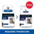 Hill's z/d Prescription Diet Food Sensitivities pienso para gatos