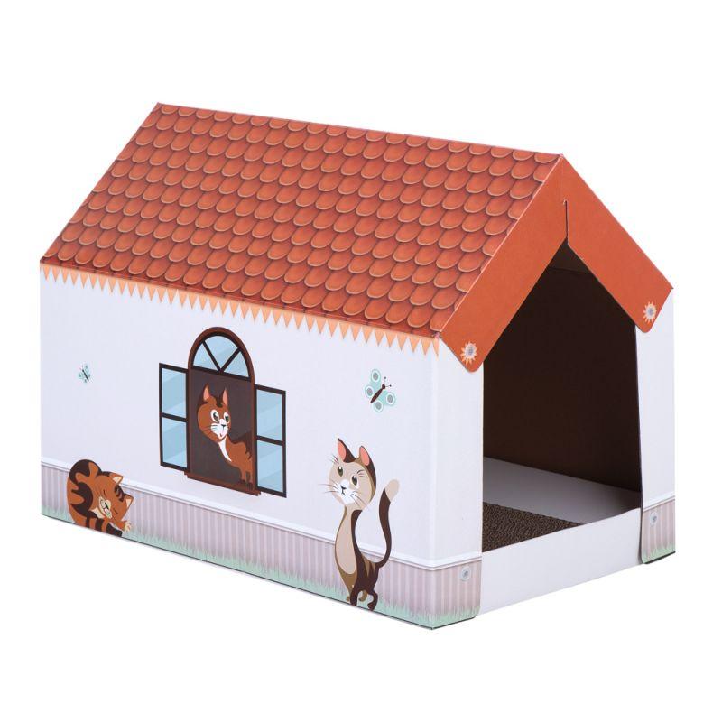 Home XL katthus med klösbräda