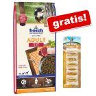 Hrană uscată bosch + 7 oase Barkoo Deli Strong Bones Pui CADOU!