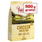 Hrană uscată Purizon câini : 3,5 kg + 500 g gratis!