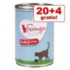 Hrana lunii! 20 + 4 gratis! 24 x 400 gFeringa Classic Meat Menu