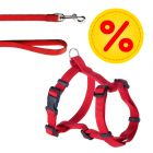 HUNTER Set: Geschirr  + Leine Ecco Sport Vario Rapid rot