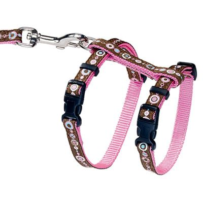 HUNTER Puppy & Kitten Harness + Lead - Pink Signs
