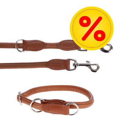 Hunter Round & Soft Set: Hondenriem + halsband 50 cm