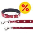 HUNTER Set: Halsband Swiss + Hundeleine Swiss