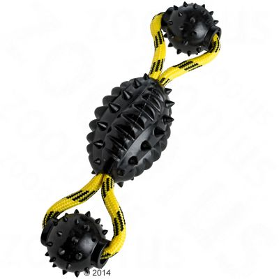 HUNTER Spike Ball Rope Dog Toy