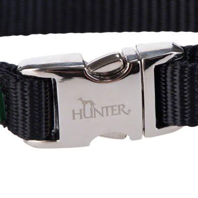 Hunter Vario Basic Alu-Strong hundehalsbånd, svart