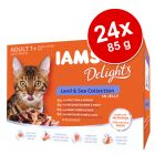IAMS Delights Adult Terre & Mer 24 x 85 g pour chat