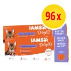 IAMS Delights Wet Cat Food Multibuy 96 x 85g