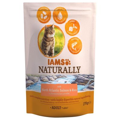 IAMS Naturally Cat Adult, łosoś