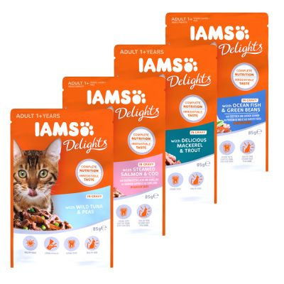 IAMS Delights Adult en sauce 12 x 85 g pour chat