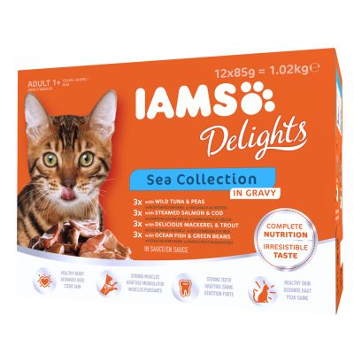 IAMS Delights Adult en sauce 24 x 85 g pour chat