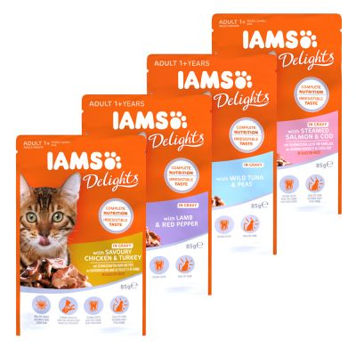 IAMS Delights Adult in Saus Kattenvoer 12 x 85 g