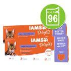 IAMS Delights Adult Land & Sea Kattenvoer 96 x 85 g