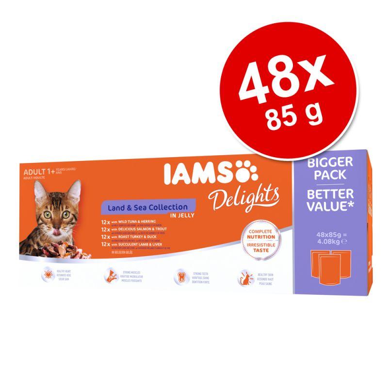 IAMS Delights Adult Land & Sea 48 x 85 g