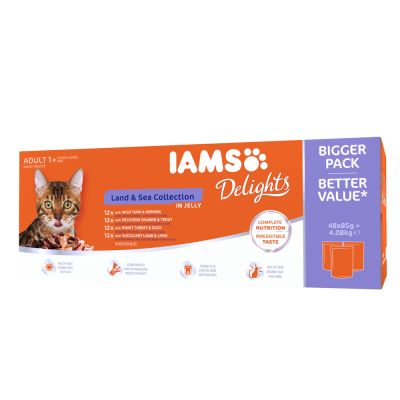 IAMS Delights Adult Land & Sea 48 x 85 g