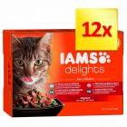 IAMS Delights Adult Rybne smaki, 12 x 85 g