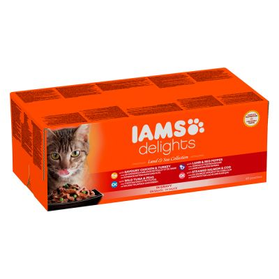 Iams Delights Adult Terre & Mer 48 x 85 g