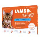 IAMS Delights Collectie in Gelei Kattenvoer 12 x 85 g