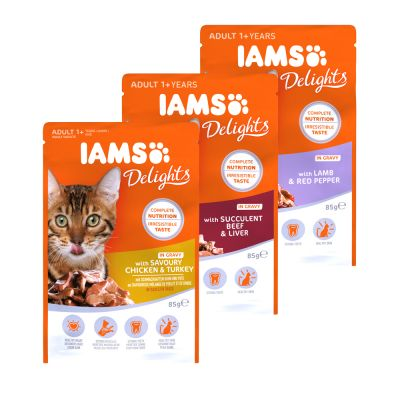 IAMS Delights Collectie in Saus Kattenvoer 12 x 85 g