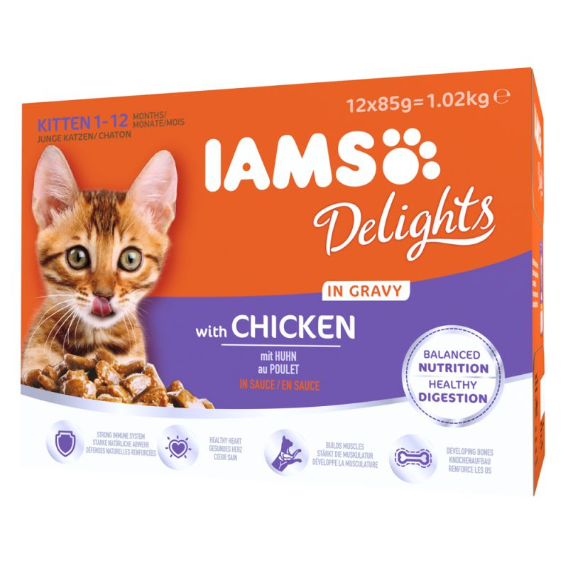 IAMS Delights Kitten – Chicken in Gravy