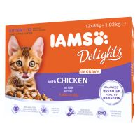 IAMS Delights Kitten in Salsa - Pollo