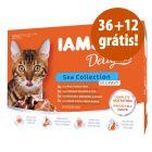 IAMS Delights saquetas 48 x 85 g em promoção: 36 + 12 grátis!