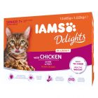 IAMS Delights Senior con pollo en salsa