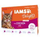 IAMS Delights Senior Kyckling i sås 24 x 85 g